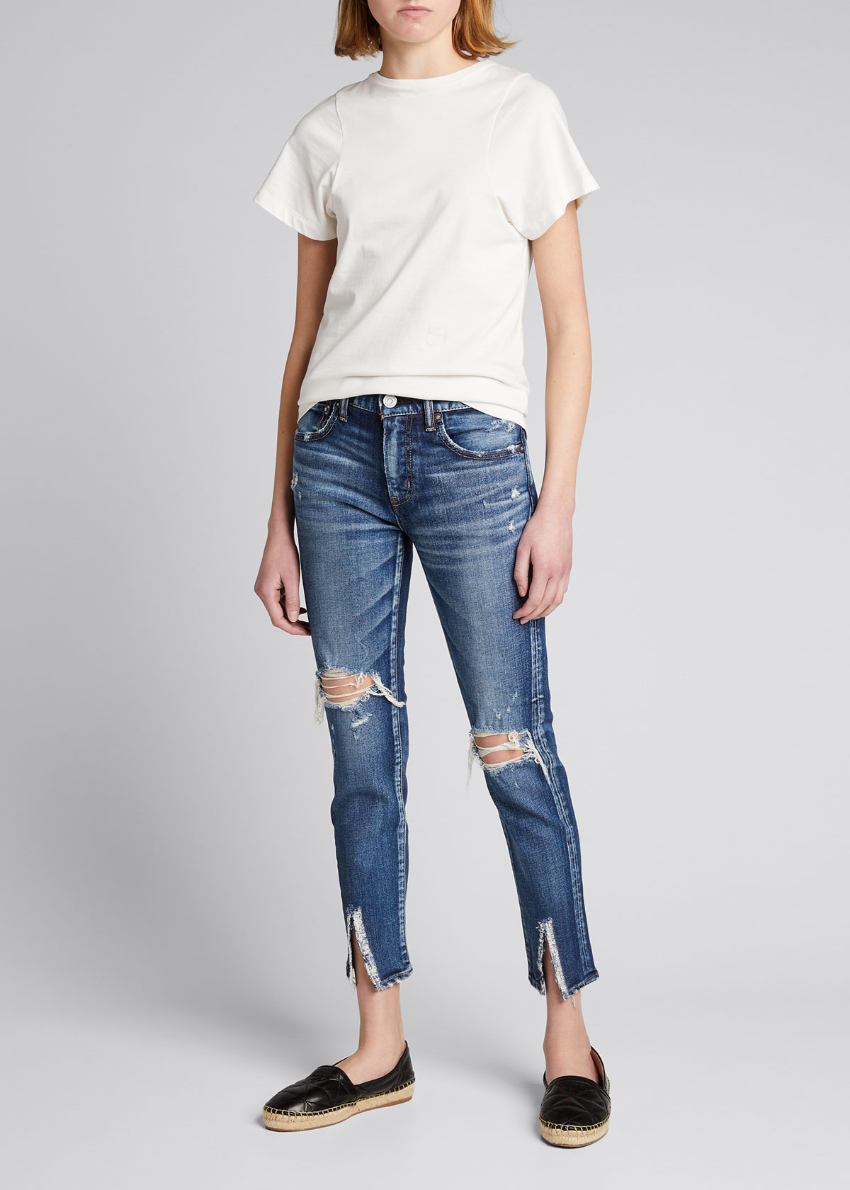 Moussy Vintage ITHAN DISTRESSED SKINNY JEANS