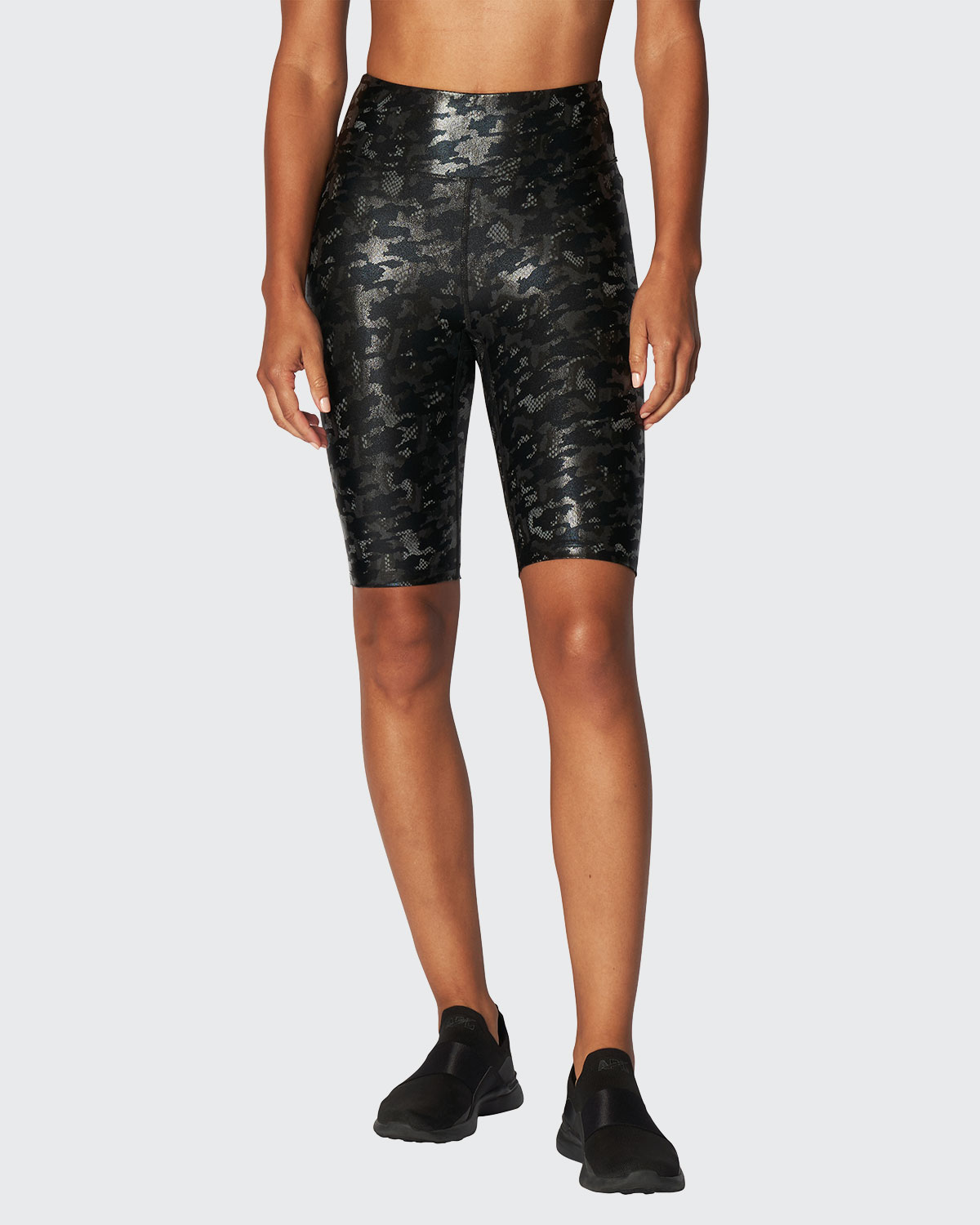 Heroine Sport MARVEL SHINEY CAMO BIKER SHORTS