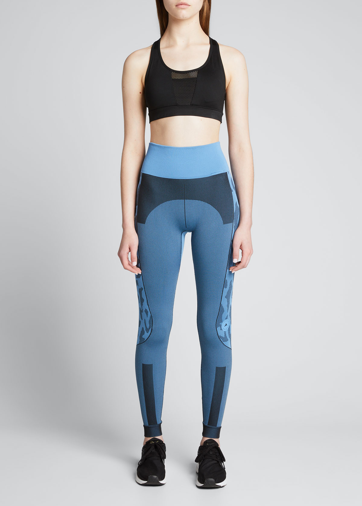 Adidas By Stella Mccartney TRUEPURPOSE ANIMAL-PRINT ACTIVE LEGGINGS