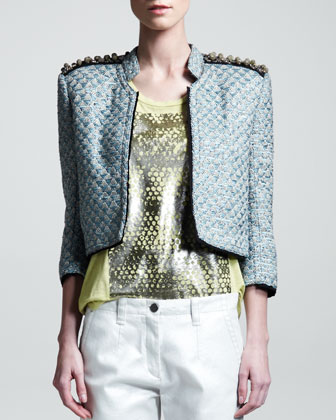Hydra Cropped Tweed Jacket