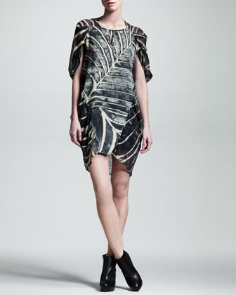 Arachne Printed Chiffon Dress