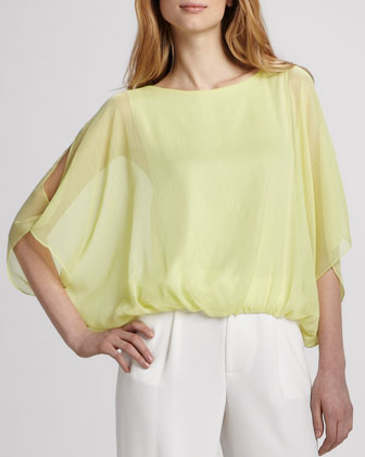 Una Batwing Cold-Shoulder Top
