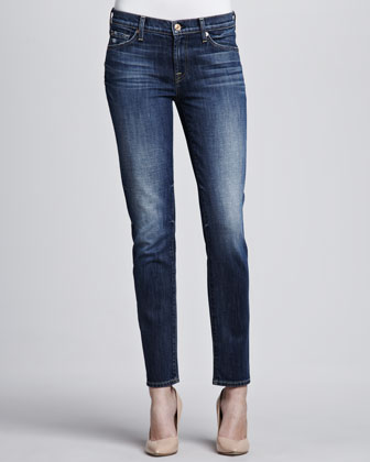 Bright Blue Slim Cigarette Jeans