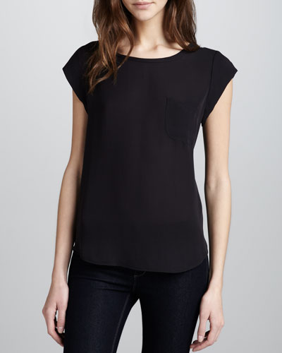 Rancher Cap-Sleeve Blouse