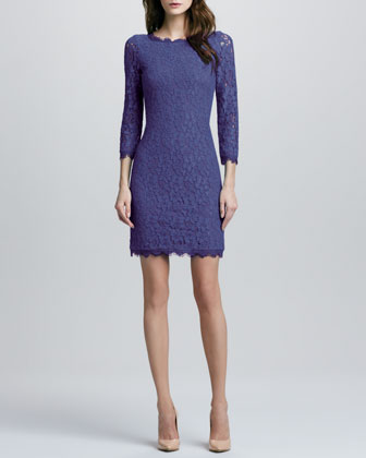 Zarita Lace Dress, Vivid Blue