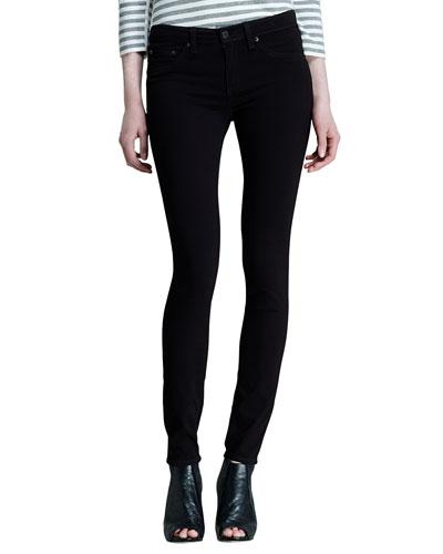 The Legging Jeans, Black Plush