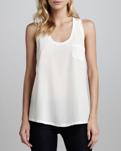 Alicia Racerback Pocket Tank
