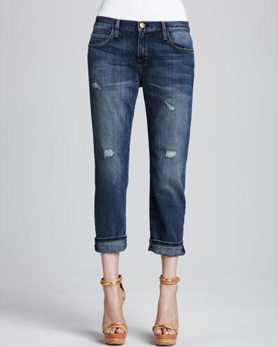 Boyfriend Loved Destroyed Cuffed Jeans