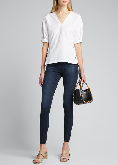 The Farrah High-Rise Skinny Jeans, Brooks