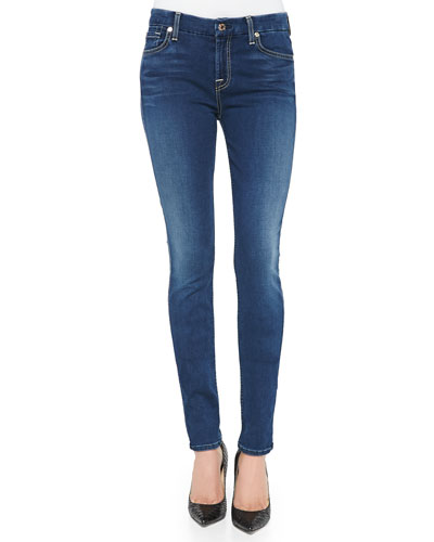 Mid-Rise Skinny Jeans, Slim Illusion Luxe Brilliant Blue