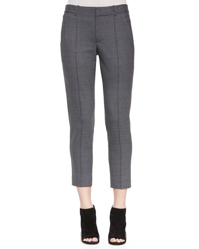 Pintuck Side-Tab Pants