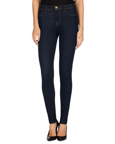 Maria High-Rise Super-Skinny Jeans, After Dark