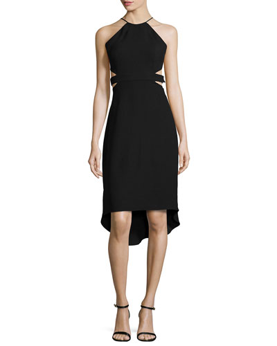 Halter Back-Cutout Cocktail Dress
