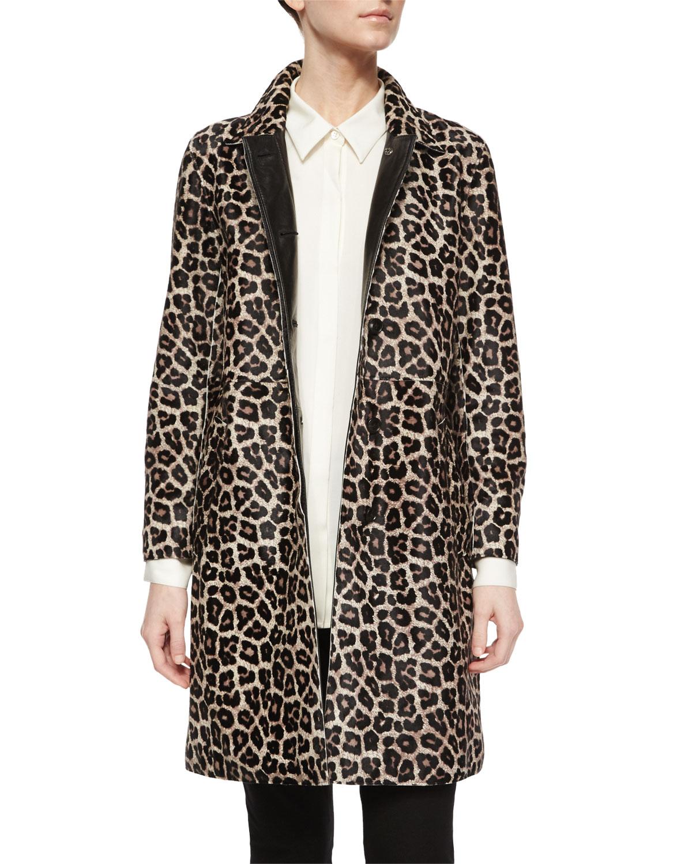 Dafina Leopard-Print Coat