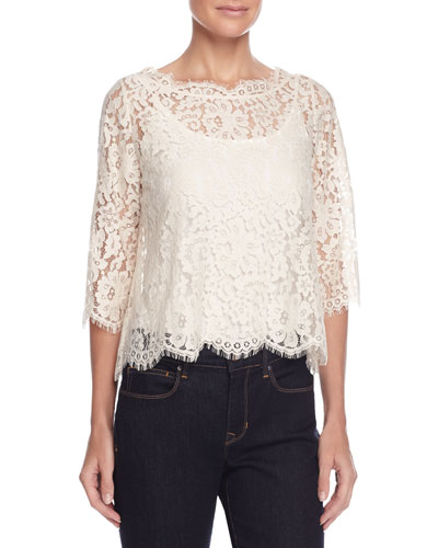 Elvia Scalloped Lace Top