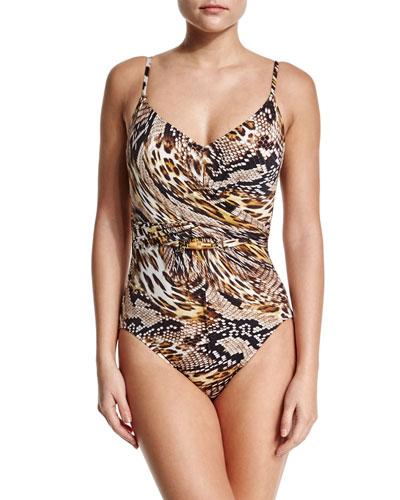 Sahara Animal-Print One-Piece Swimsuit