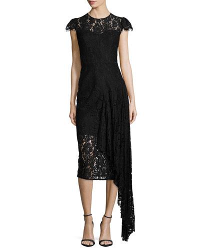 Margaret Asymmetric Lace Dress