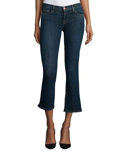 Selena Cropped Boot-Cut Jeans, Lonesome