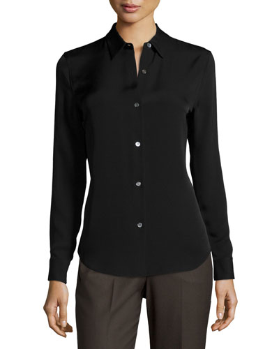 Tenia Long-Sleeve Georgette Top