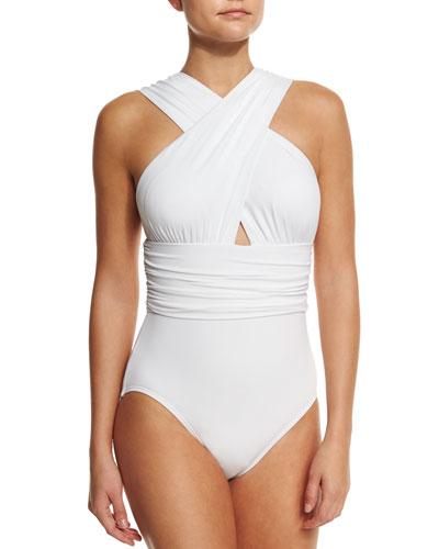 Crisscross Front One-Piece Swimsuit