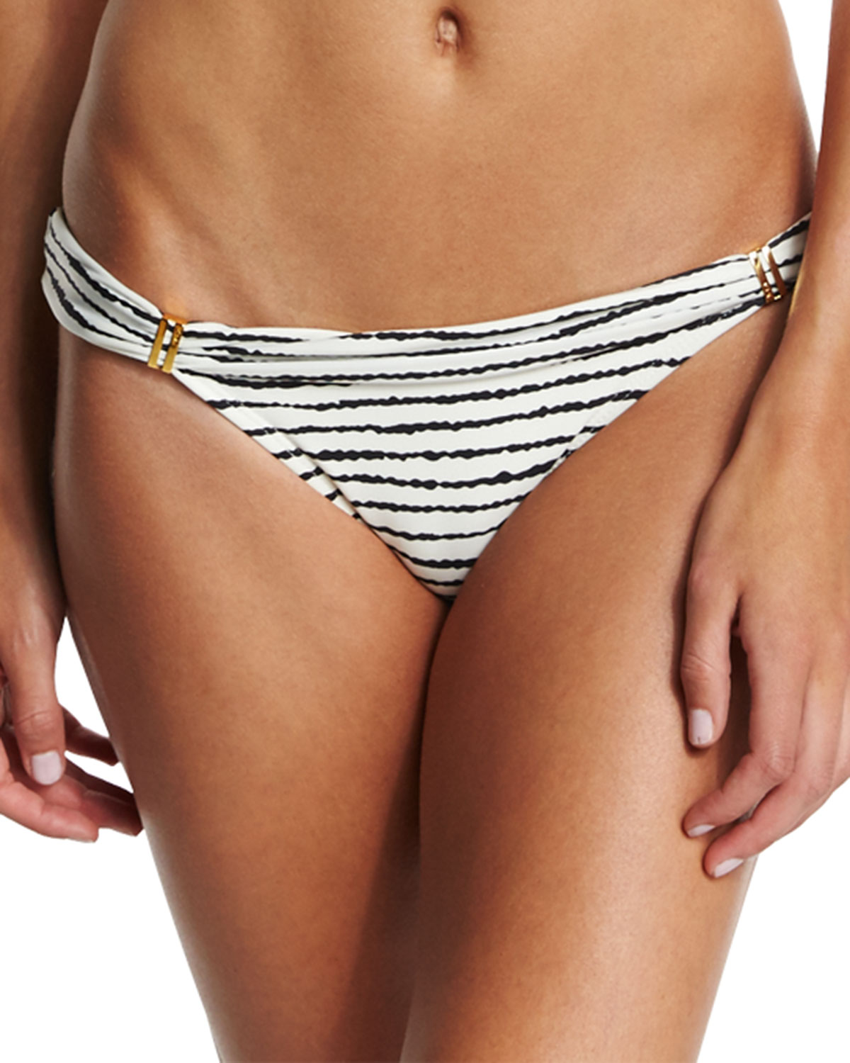 Bia Zebra-Print Swim Bottom