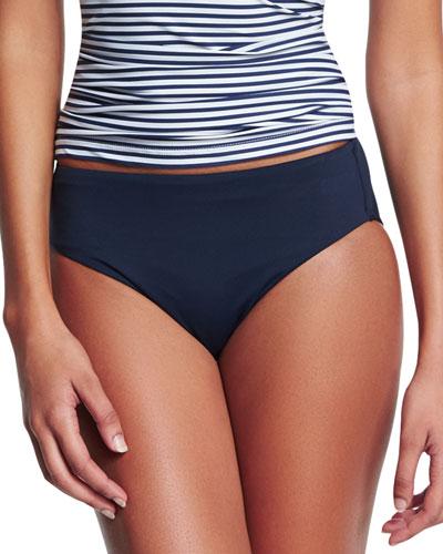 Retro Power Swim Bikini Bottom, Indigo