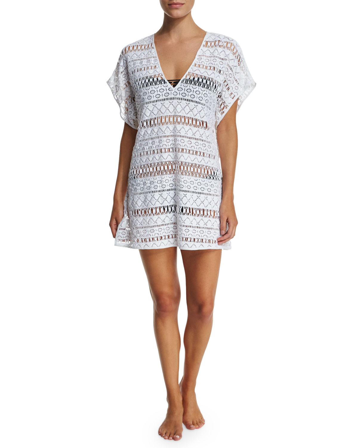 Eze Crocheted Coverup Dress