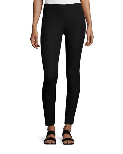 Cotton Stretch Leggings, Black