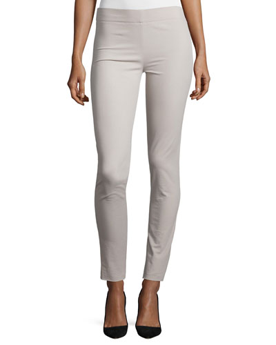 Cotton Stretch Leggings, Stone