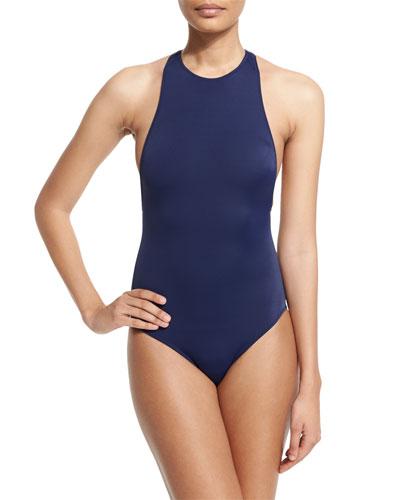 Stella Zip-Back One-Piece Swimsuit
