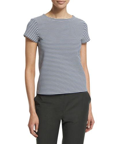 Laveneg Sail Stripe Short-Sleeve Top