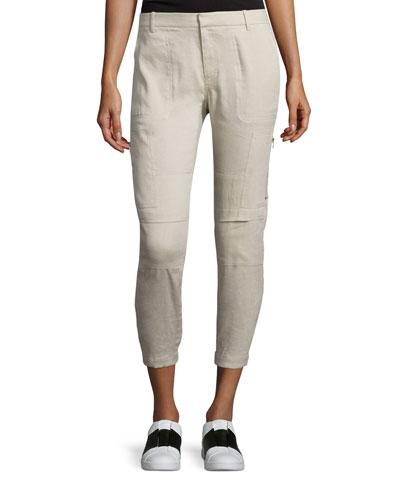 Linen-Blend Cargo Pants, Marzipan