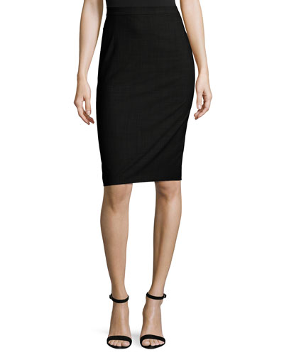 Hemdall B Continuous Pencil Skirt, Black