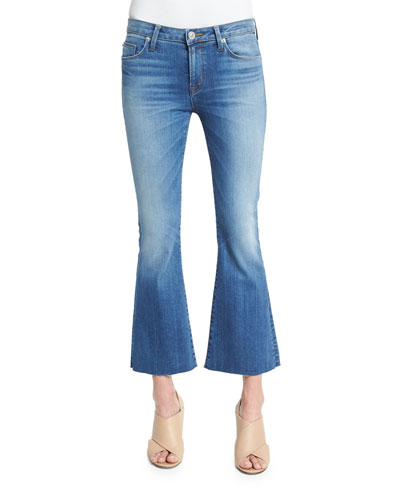 Mia Flare-Leg Cropped Jeans, Carve