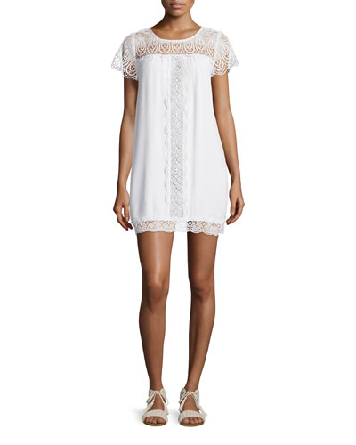 Kastra Embroidered Lace Dress