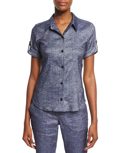Pauleen Tierra Washed Denim Top