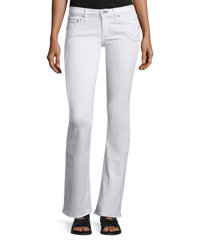 Low-Rise Boot-Cut Jeans, Bright White