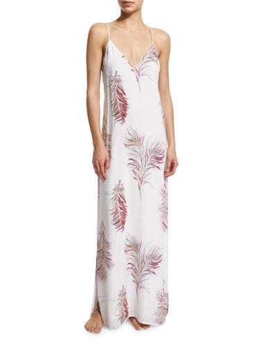 Krishna W Milos Printed Maxi Dress