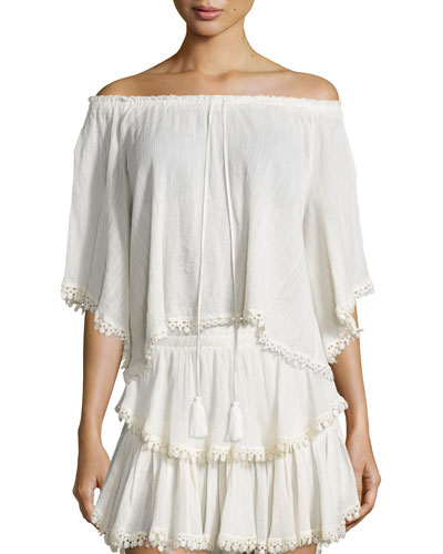 Gypsy Cotton Tassel Top, Dahlia