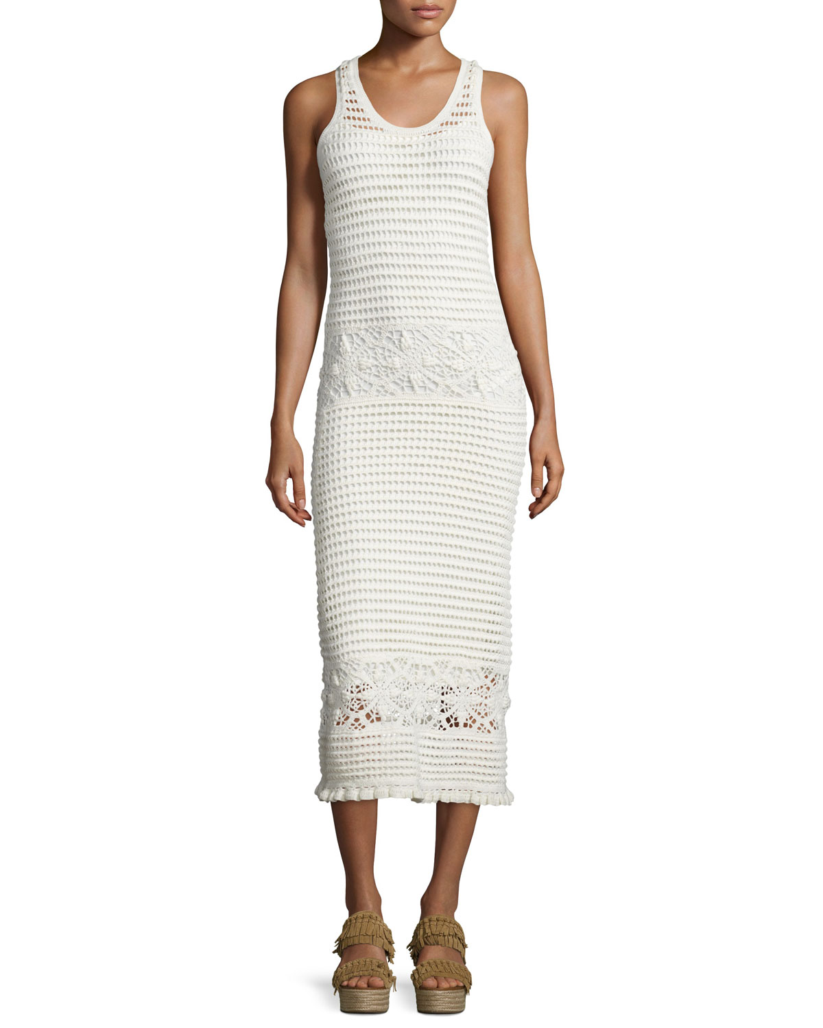 Nerano Crocheted Midi Tank Dress Coverup