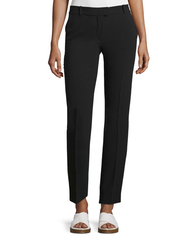Ben Crepe Ankle Pants, Black