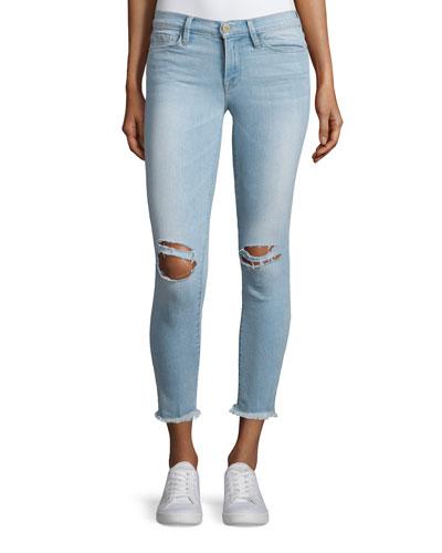 Le Skinny De Jeanne Cropped Jeans, Honeywood