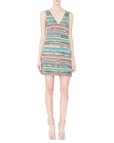 Venetia Sequin Mini Dress, Multicolor