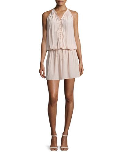 Alexandra Sleeveless Lace-Up Dress