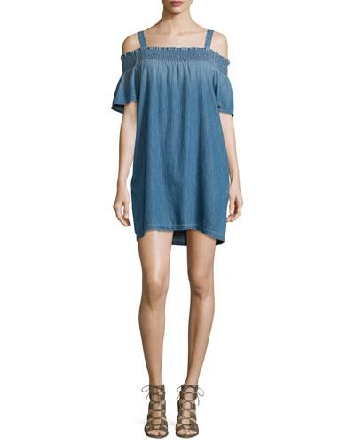 The Madeline Cold-Shoulder Shift Dress, Davis