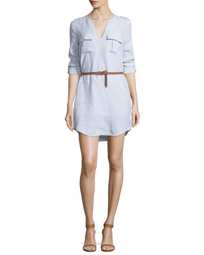 Rathana Chambray Belted Dress