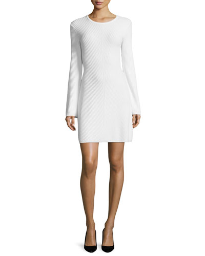 Ardesia Prosecco Directional-Rib Sweater Dress