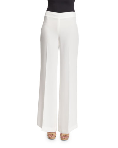 Simmone Admiral Crepe Wide-Leg Pants