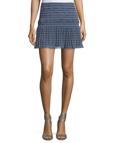 Tayte Square-Print Mini Skirt