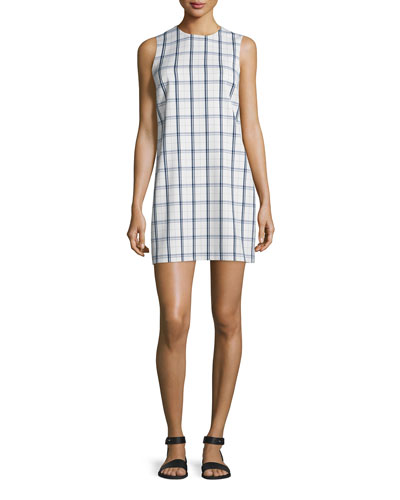 Adraya Lustrate Plaid Shift Dress